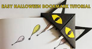free printable halloween bookmarks how to make an easy paper owl bookmark imagine forest