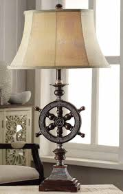 perfect sea captain style ships wheel table lamp get the look