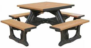 recycled plastic picnic tables 40 square recycled plastic picnic table a picnic table store