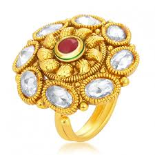 fingers rings design images Grab online sukkhi classic designer traditional cocktail gold jpg