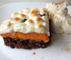 epic thanksgiving dessert pecan pie brownies with sweet potato