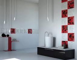 Beautiful Minimalist Blue Tile Pattern Bathroom Decor Also Tile - Interior design bathroom tiles