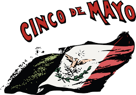 clipart of a retro mexican flag and cinoc de mayo text