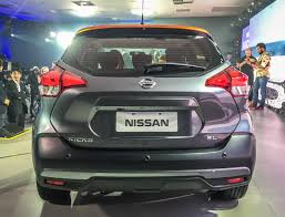 nissan kicks 2017 blue nissan kicks compact suv rear in the flesh indian autos blog