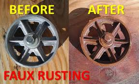 spray paint a rust faux finish look on your projects youtube