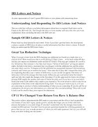best photos of irs sample letter write sample irs response