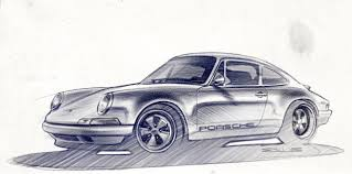 old porsche drawing design car u2014 old porsche drawing porsche pinterest