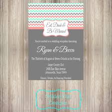 Eat Drink And Be Married Invitations Diy Printable Eat Drink And Be Married Chevron Wedding Reception
