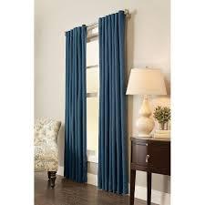 home decorators collection spring blue garden gate back tab semi opaque indigo room darkening back tab curtain 54 in w