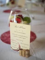idee menu mariage mariage thème vin vigne menu bouchon idee anniv thierry