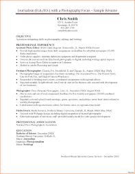 resume exles for media internships photographer 2bresume 2bsle 2b4 photography resume exles 1