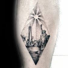 60 new york skyline tattoo designs for men big apple ink ideas