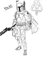 boba fett coloring pages getcoloringpages