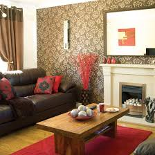 Reddish Brown Leather Sofa Living Room Design Taupe Living Room Brown Rooms Decor Ideas