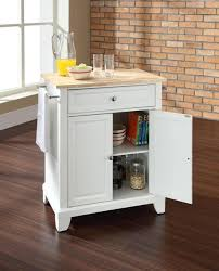 kitchen white portable kitchen island with stainless countertops
