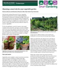 Good Garden Vegetables by Choosing A Smart Site For Your Vegetable Garden Msu Extension