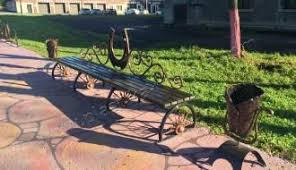 Horseshoe Bench Benches And Barbecues художественная ковка пластика металла