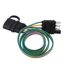 6v 12v 24v 4 pin flat trailer towbar towing plug socket wiring