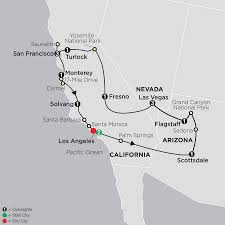 National Parks Us Map Tour West America Cosmos Affordable Travel