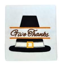 split thanksgiving pilgrim hat applique