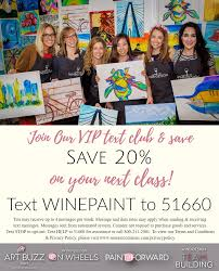 wine u0026 design myrtle beach sc wine u0026 paint parties