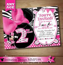 mickey mouse 2nd birthday invitations huge selection zebra minnie mouse invitation pink black zebra