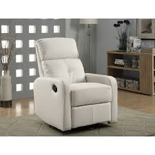 white recliner white leather recliner chair amazing chairs white
