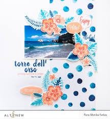 Combination Of Blue by Totally Tropical Archives Altenew Scrapbook