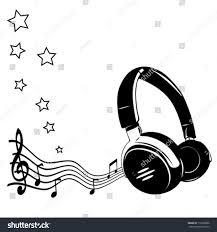 headphones notes concept music stock vector 113868898 shutterstock