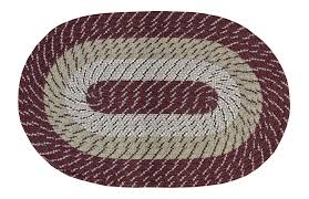 8 Round Braided Rugs by Salem Nylon Burgundy Braided Rug Curtain U0026 Bath Outlet