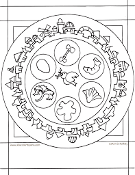 seder plate craft for koffsky passover plate coloring page passover