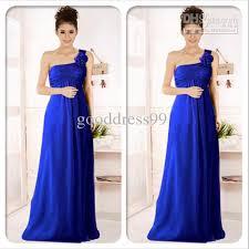 new royal blue chiffon bridesmaide dresses long prom ball evening