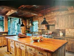 interior kitchen rustic cabin ideas small log attractive home