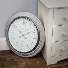 lc design grey eleanor wall clock