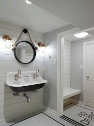 Stainless Steel Bathroom Light Fixtures by Contemporary Round Nautical Mirror Metal Mirror Frame White Wall