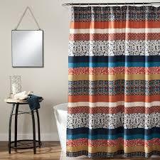 Curtains And Home Decor Inc Amazon Com Lush Decor Boho Stripe Shower Curtain 72 X 72