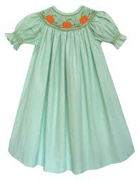 carouselwear fall smocked pumpkin bishop dress