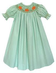 thanksgiving dresses for girls amazon com carouselwear fall smocked pumpkin girls bishop dress
