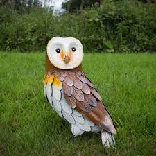 barn owl metal bird ornament gardenbird