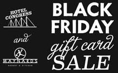 gift card sale black friday gift card sale hotel congress