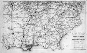 Map Of The Southern States Of America by Hargrett Library Rare Map Collection Transportation