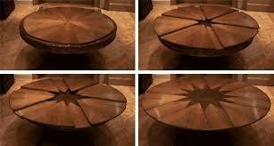 circle table that gets bigger expandible table design unique pieces pinterest spin big