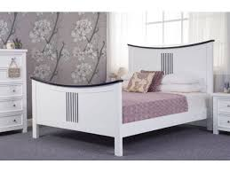 White King Size Bed Frame Designer 6ft King Size Bed Frame In White And Black Pine Wood