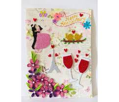happy anniversary quilled greeting card buy handmade cards