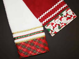 christmas towels fabric trimmed towels favecrafts