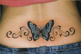 lower back designs for butterfly lower back