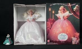 holiday angel christmas tree topper ornament barbie mib
