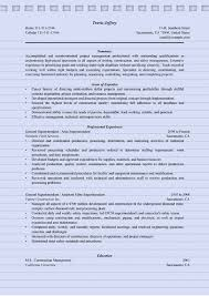 Construction Superintendent Resume Samples by 4 Superintendent Resume Sample Ms Word Doc Format