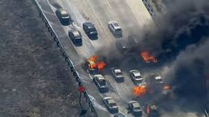 Wildfire California Video by California Wildfire Jumps Interstate 15 In Cajon Pass