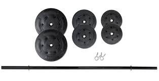 Weight Bench With Barbell Set 100 Lb Standard Vinyl Barbell Set Marcy Vb 100